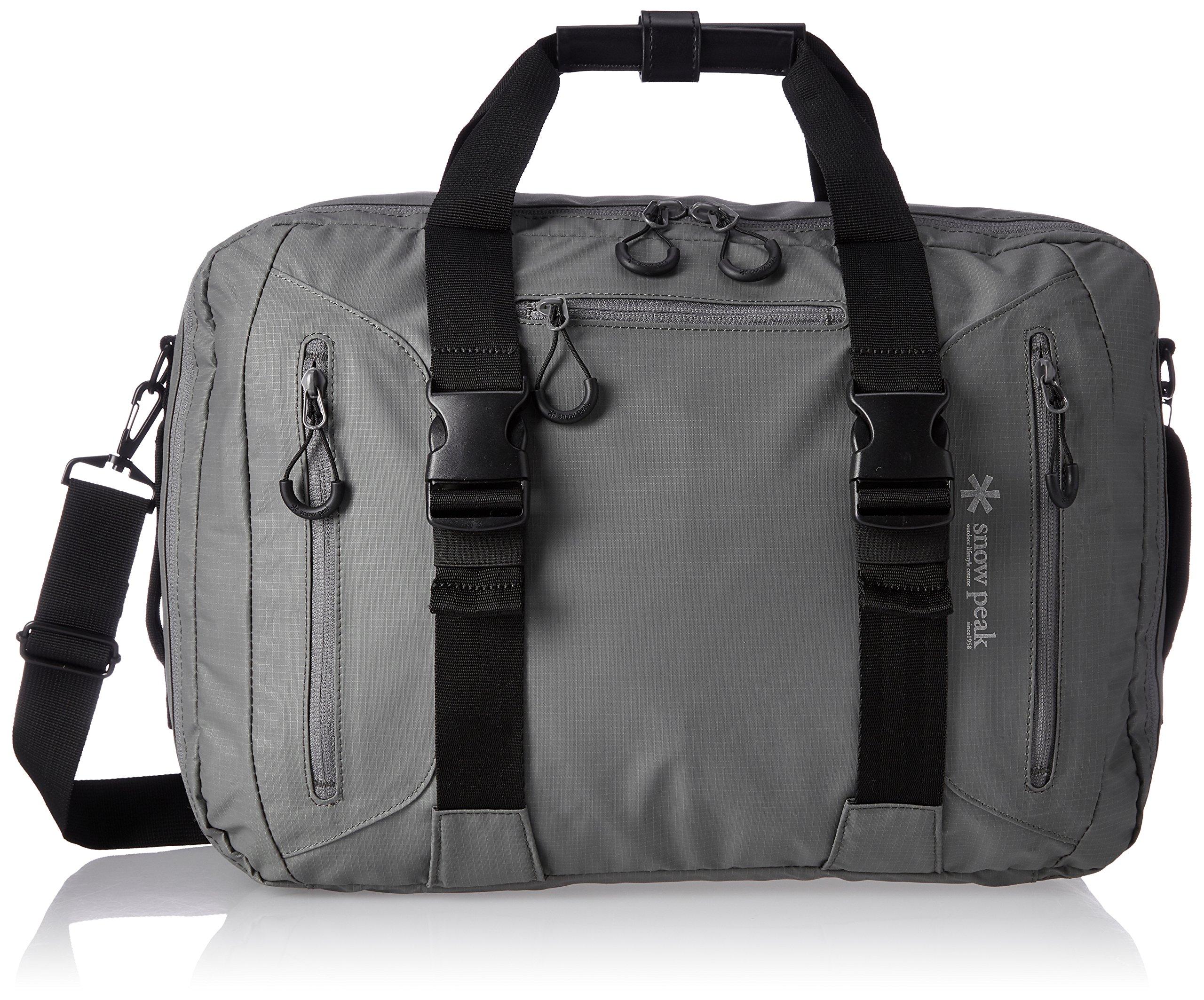 Snow Peak 3Way Business Bag Gray, Grey, One Size