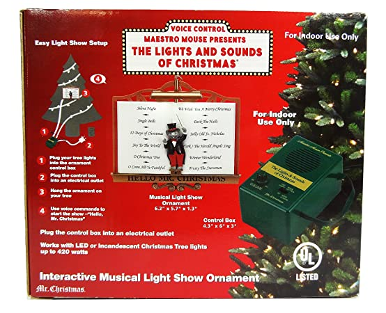 Amazon Mr Christmas Maestro Mouse Presents The Lights And