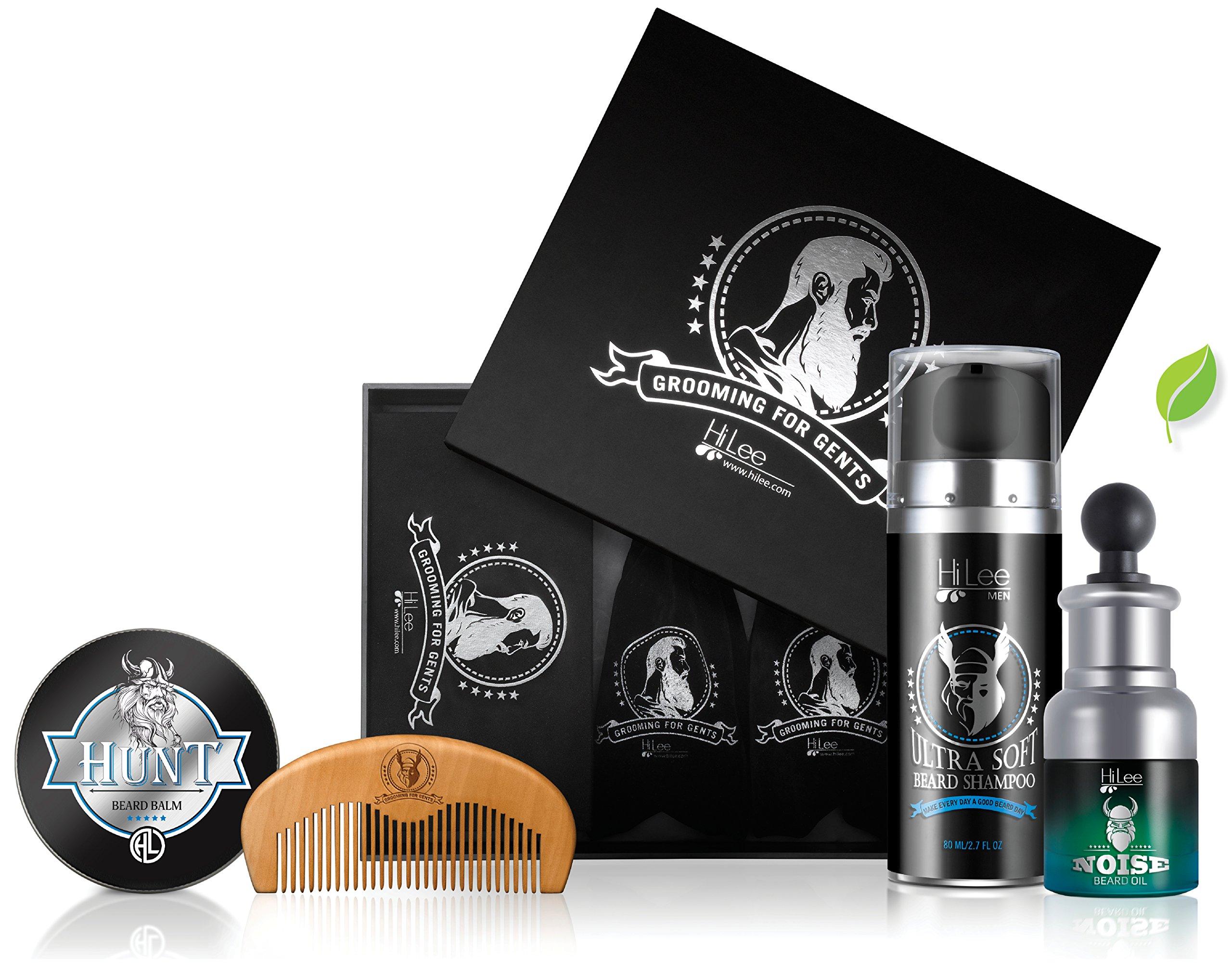 Cool Beard Grooming Kit Contains - Beard Balm, Beard Oil, Beard Shampoo Ultra Soft, Beard comb, Gift Packaging.