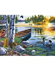 Buffalo Games 11244-Darrell Bush-Lakeside Morning-1000 Piece Jigsaw Puzzle