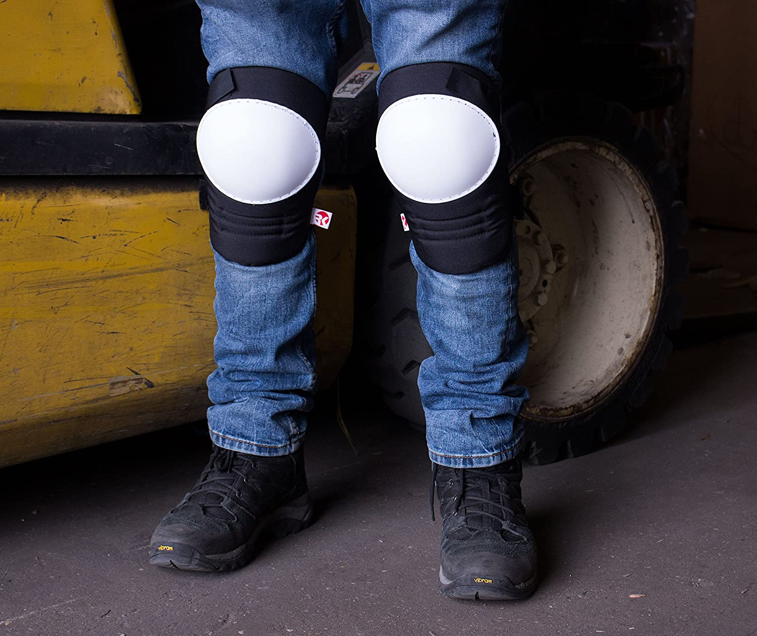 Stitched Poly Cap White, 1 Pair RK Safety RK-KP21 Kneepads with White Hard Sheel