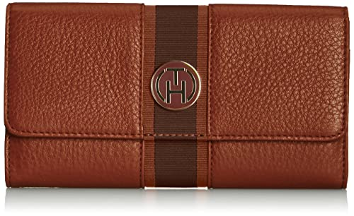 Tommy Hilfiger Bella Large E/W Wallet - Cartera, color Winter Cognac 906,