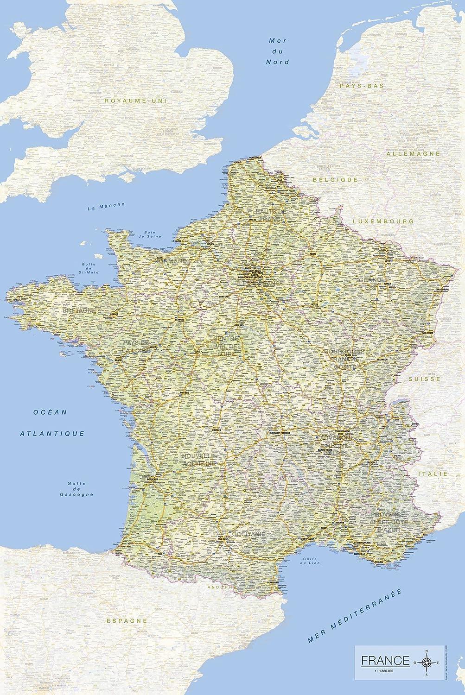 Tarjeta de Francia 2017 61 x 91,5 cm: Amazon.es: Hogar