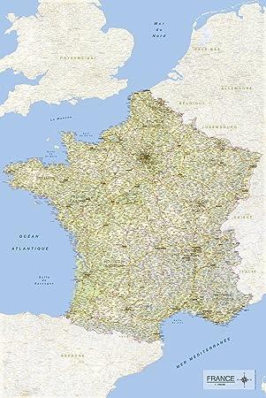 empireposter Tarjeta de Francia 2017 61 x 91,5 cm