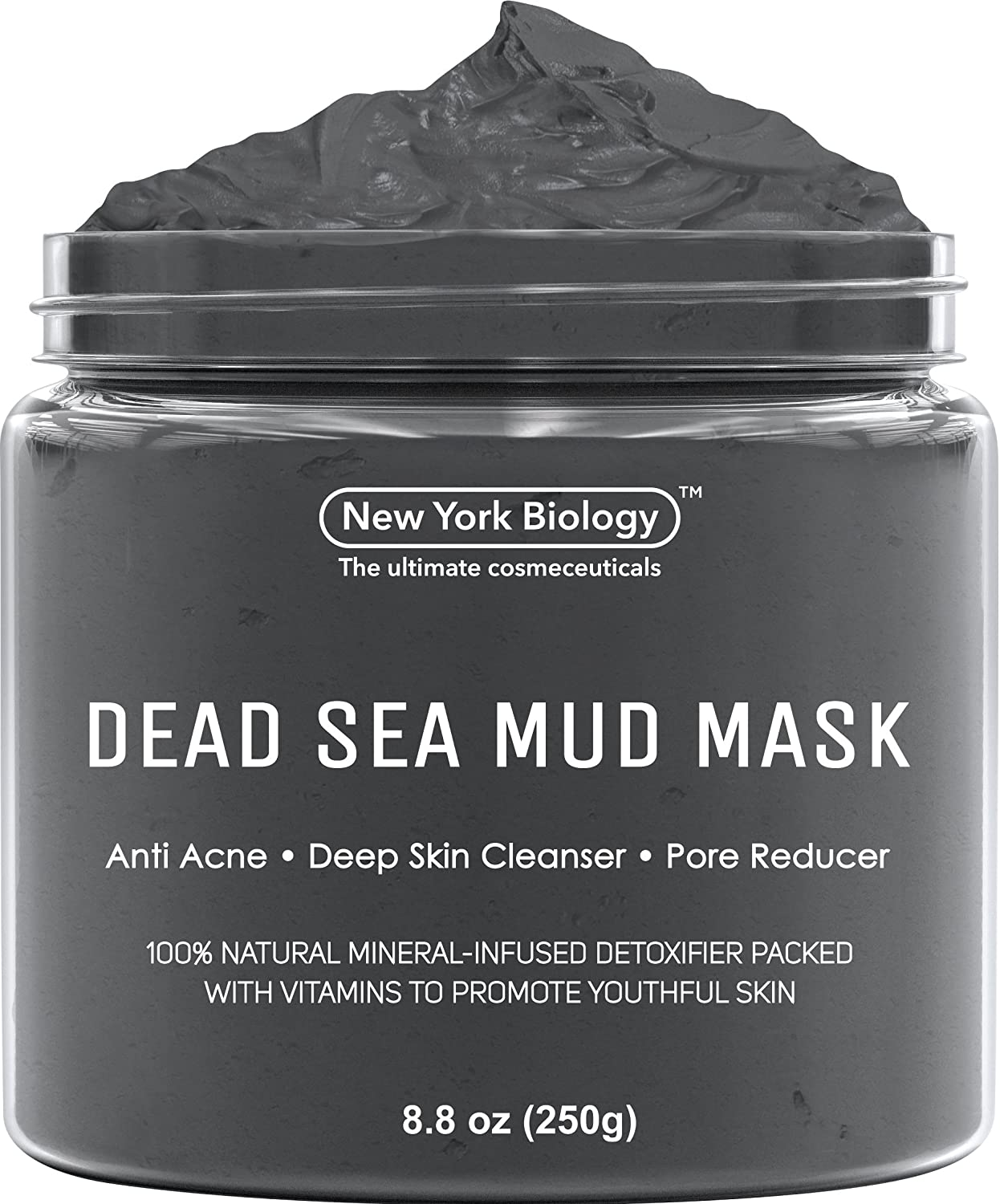 Dead Sea Mud Mask For Face & Body   100 Percents Natural Spa Quality   Best Pore Reducer & Minimizer To Help Treat Acne , Blackheads & Oily Skin – Tightens Skin... by New York Biology