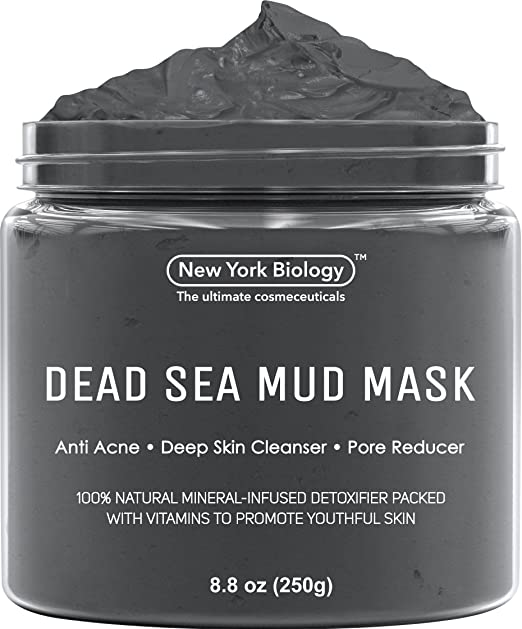 Dead Sea Mud Mask for Face & Body - 100% Natural Spa Quality - Best Pore Reducer & Minimizer to Help Treat Acne , Blackheads & Oily Skin – Tightens Skin for a Visibly Healthier Complexion – 8.8 OZ best charcoal masks