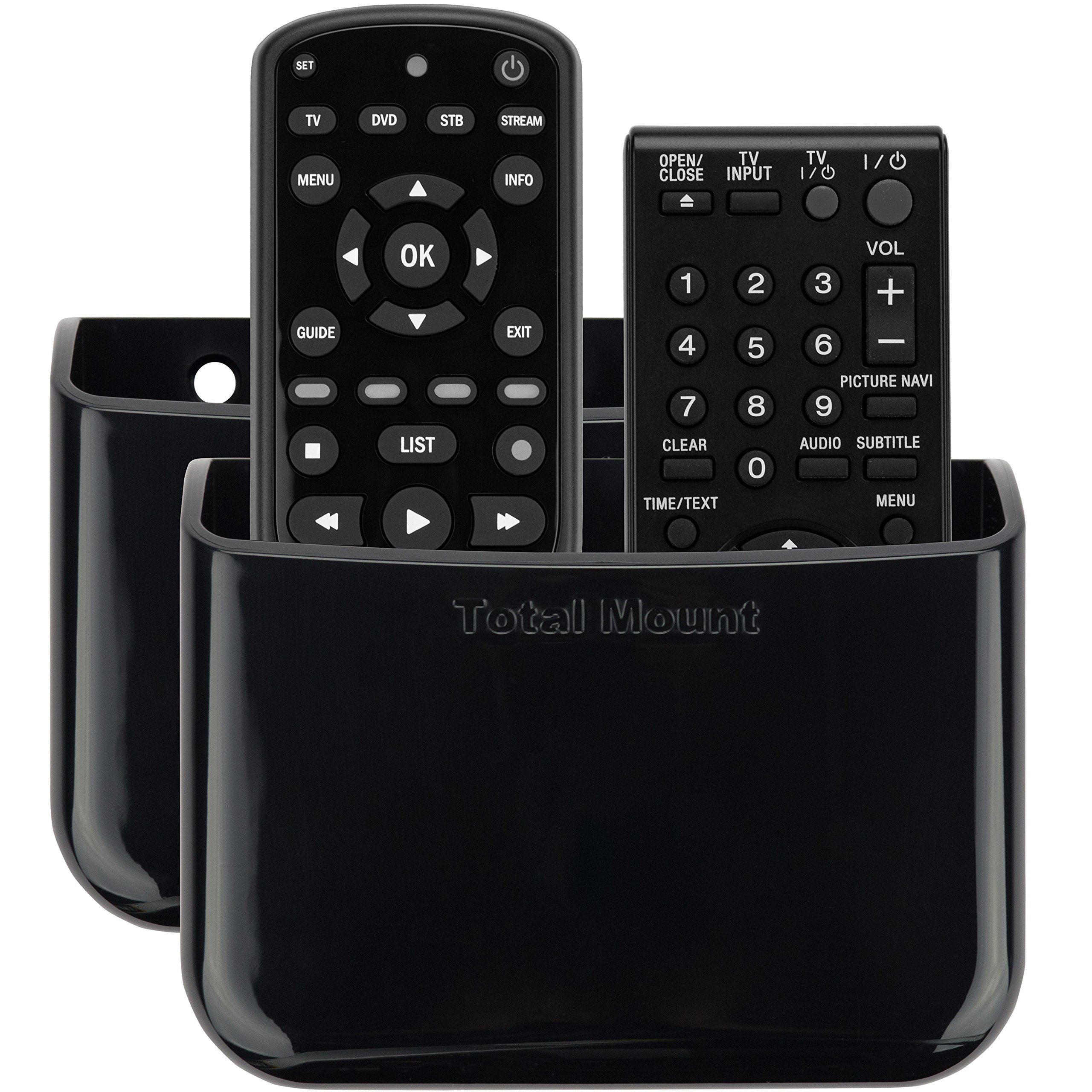 TotalMount Universal Remote Holders (Quantity 2 - Two Remotes per Holder) by TotalMount