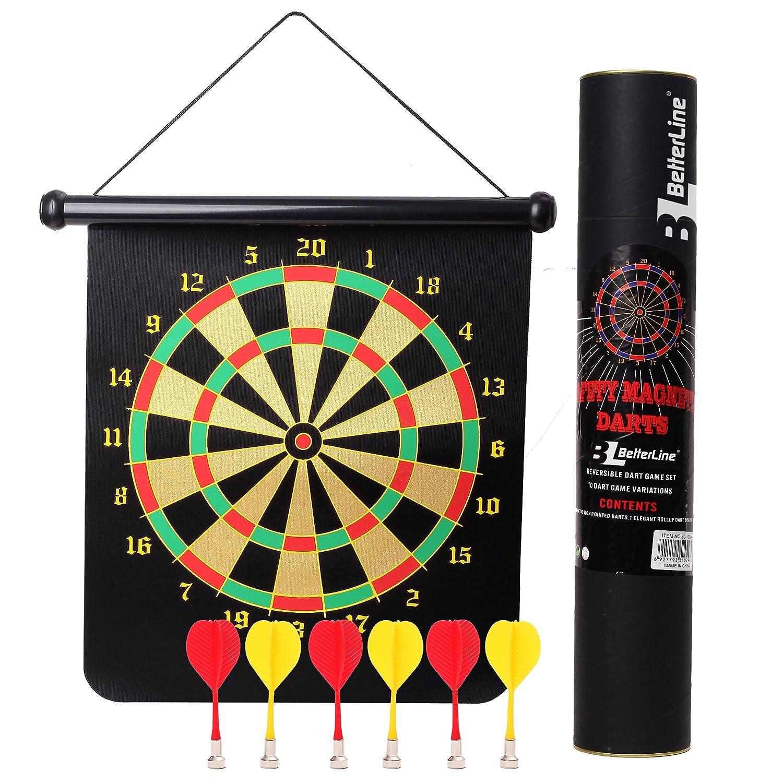 BETTERLINE Magnetic Dart Board Game Set   16 X 19 Inch (41.5x47.5cm)  Roll Up Board ...