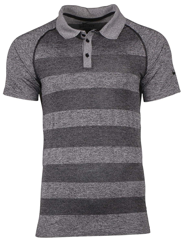 Nike Hombres de Dri-FIT de tenis Polo de rayas de ancho shirt-gray ...
