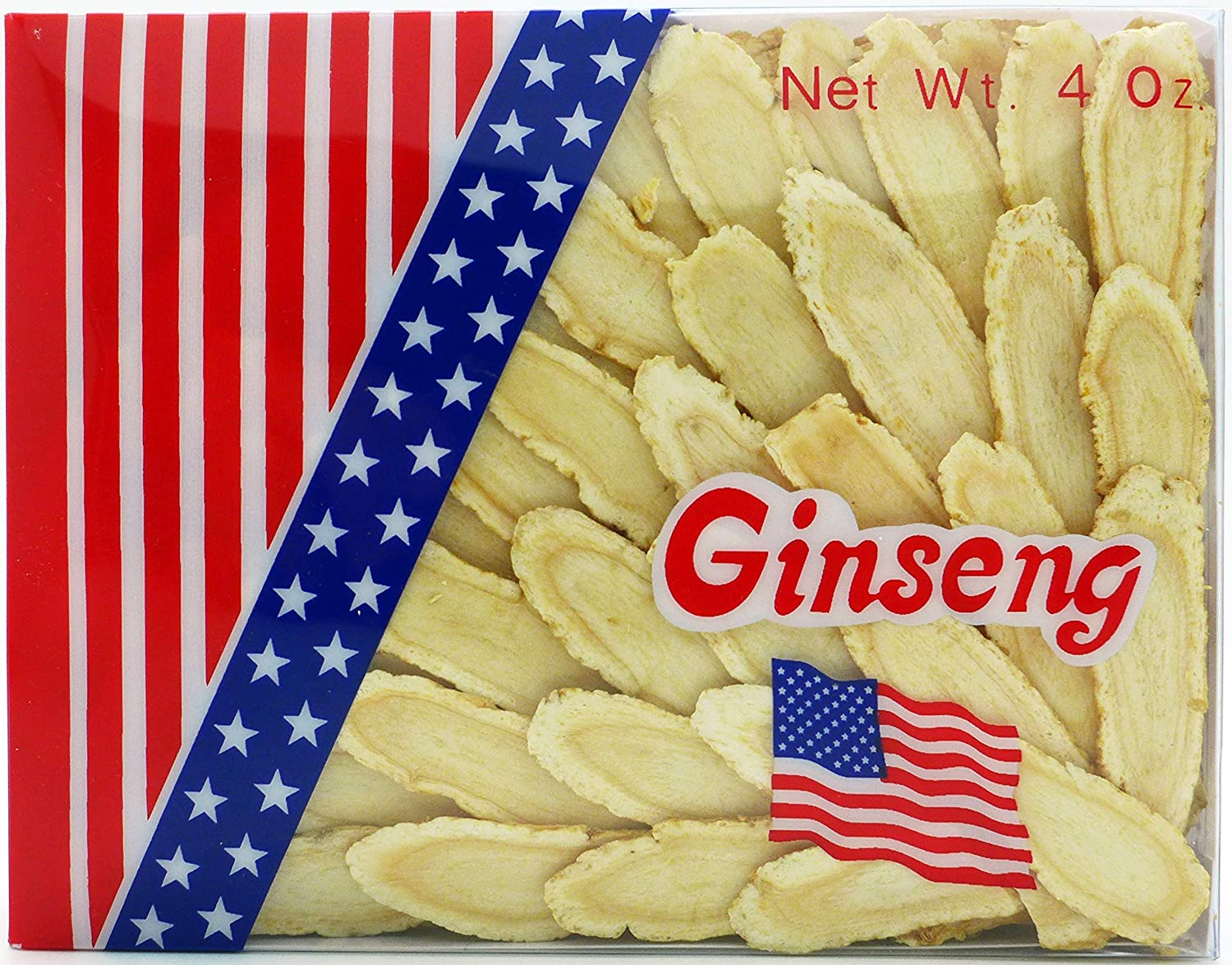 Green Bay American Ginseng From Wisconsin, Large Slice, 4 OZ Ginseng Root Slices Sliced Ginseng Root