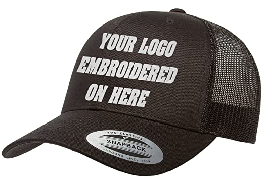 dacfd244eec980 Custom Trucker Hat. Yupoong. Embroidered. Your Own Logo Curved Bill Snapback.  (
