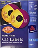 Avery CD Labels - 100 Disc labels & 200 Spine labels (8691)