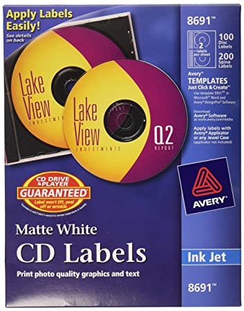 Amazon.Com : Avery Cd Labels - 100 Disc Labels & 200 Spine Labels