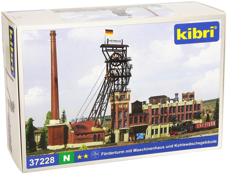Kibri 37228 - N Förderturm mit Maschinenhaus und Kohlewäschegebäude
