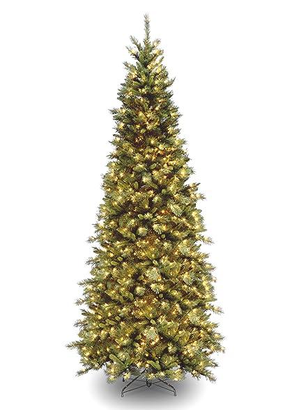 national tree 9 foot tiffany slim fir tree with 700 clear lights hinged tfslh - 9 Foot Christmas Tree