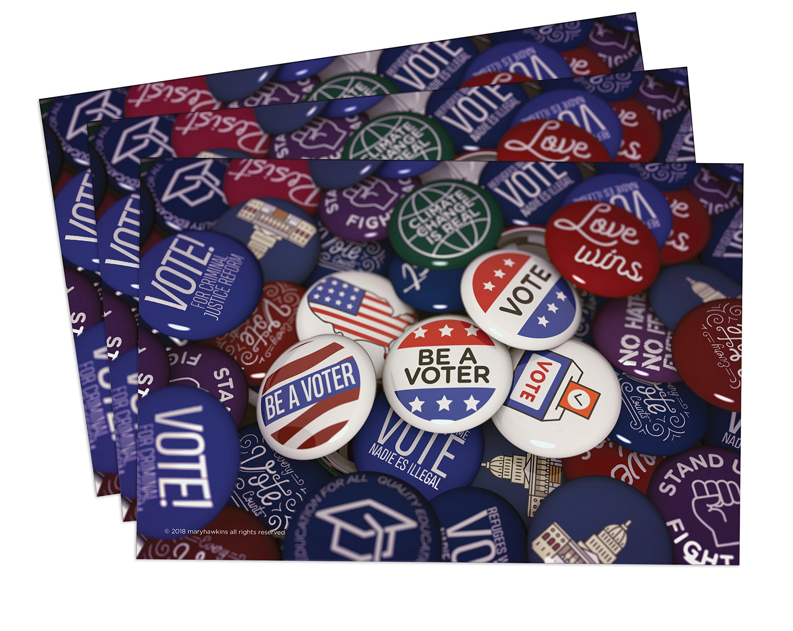 Vote Your Values Postcards: Set of 100. Perfect for Writing to Your Representatives or Get Out the Vote Campaigns like Postcards to Voters (100) by Mary Likes Postcards