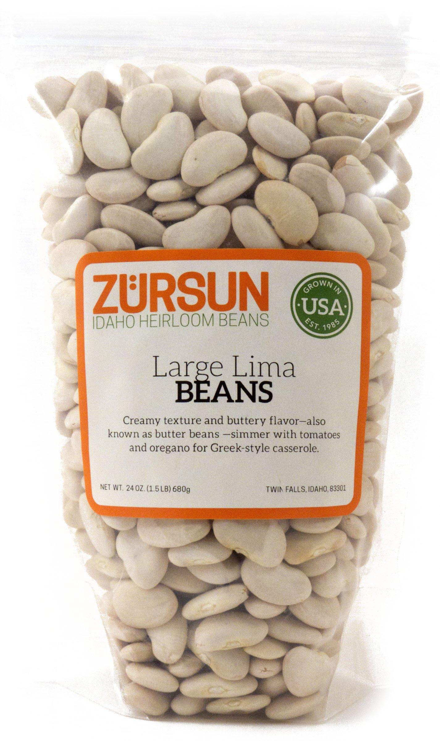 ZURSUN Beans Large Lima, 24 OZ