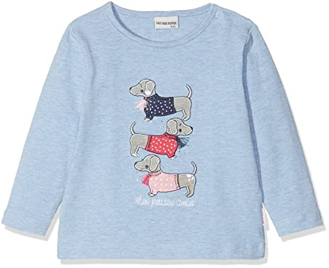 SALT AND PEPPER Baby-M/ädchen Langarmshirt B Longsleeve Meer Stripe