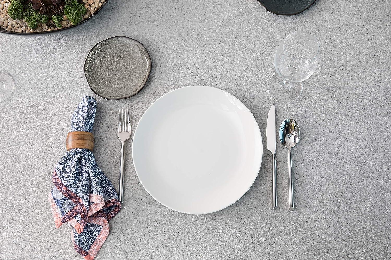 6 D/&V 6 Piece Stōn Porcelain Dinnerware Bread and Butter//Side Plate Set Twilight 6 5900.BLU.8838