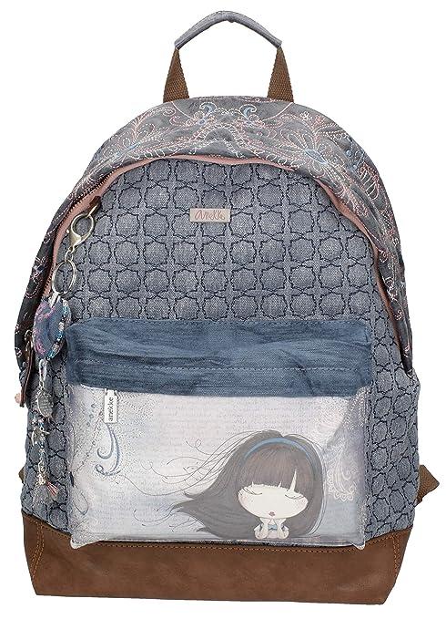 Sany Bags S.L. Anekke Moon Blue Bagpack Portatraje de Viaje, 40 cm, Beige