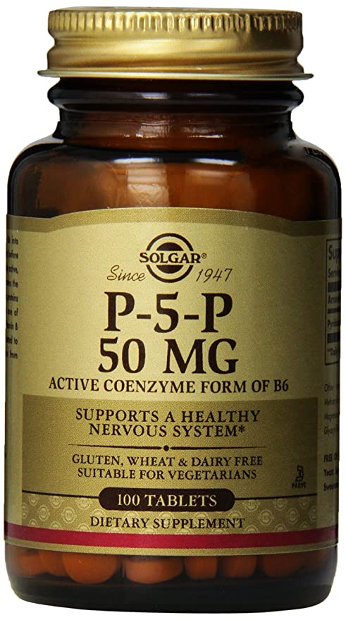 Solgar Pyridoxal-5-Phosphate Tablets, 50 mg, 100 Count by Solgar