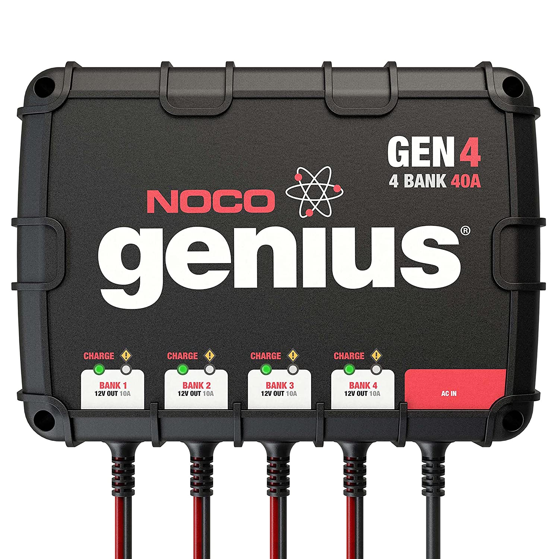 Automotive Fuse Box Generates 20 Amps Of Electrical Power Amazon Com Noco Genius Gen4 40 Amp 4 Bank Waterproof Smart On Board Rh