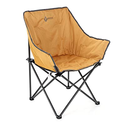 ARROWHEAD OUTDOOR Portable Folding Camping Quad Bucket Chair, Compact, Heavy-Duty, Steel Frame, Supports up to 250lbs | Includes Carrying Bag | USA-Based Support (Tan): Sports & Outdoors