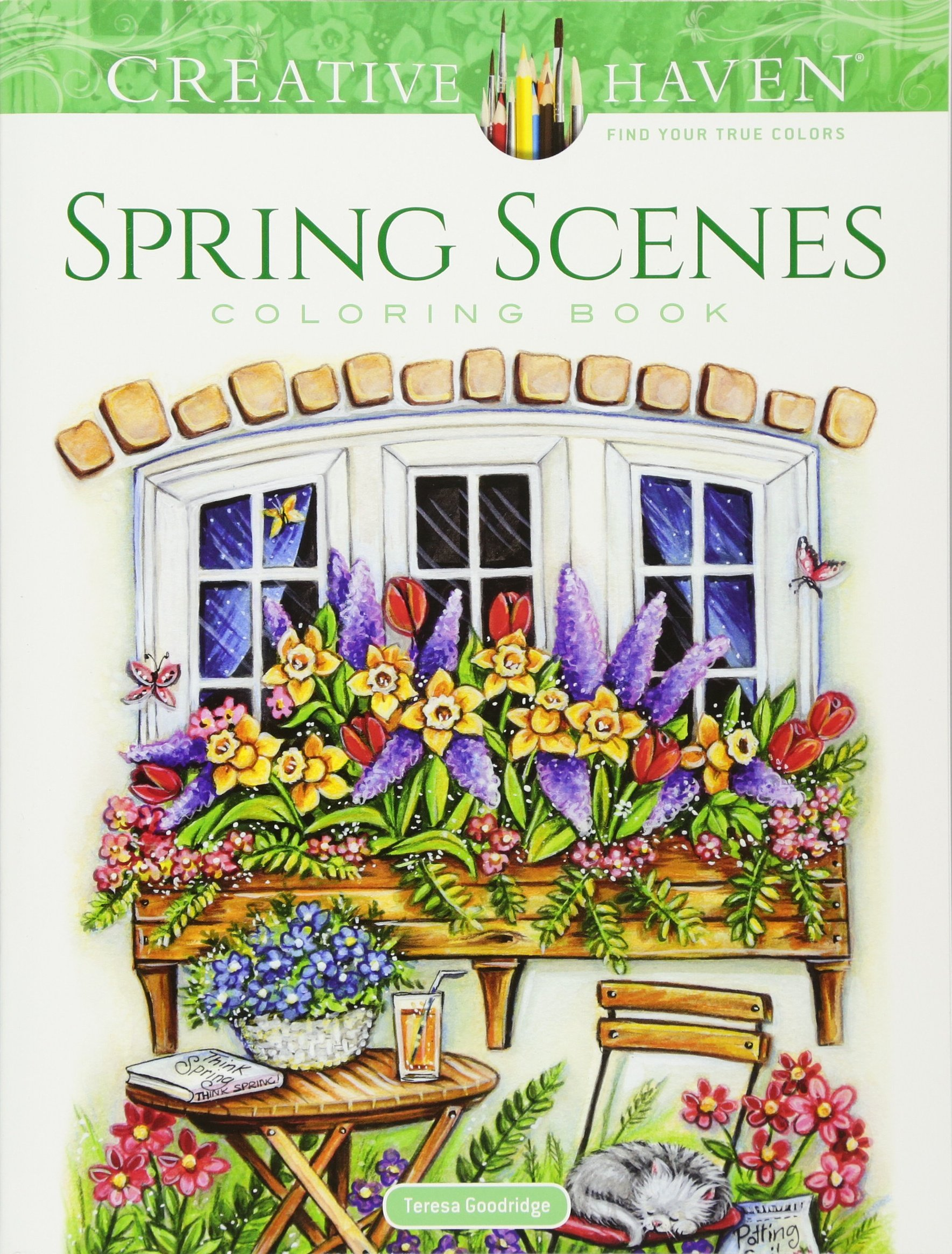 Creative Haven Spring Scenes Coloring product image