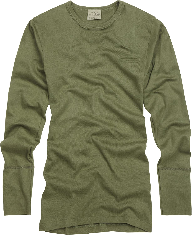 Camiseta de manga larga. Ejercito Britanico. Hombre. Verde Oliva: Amazon.es: Ropa y accesorios