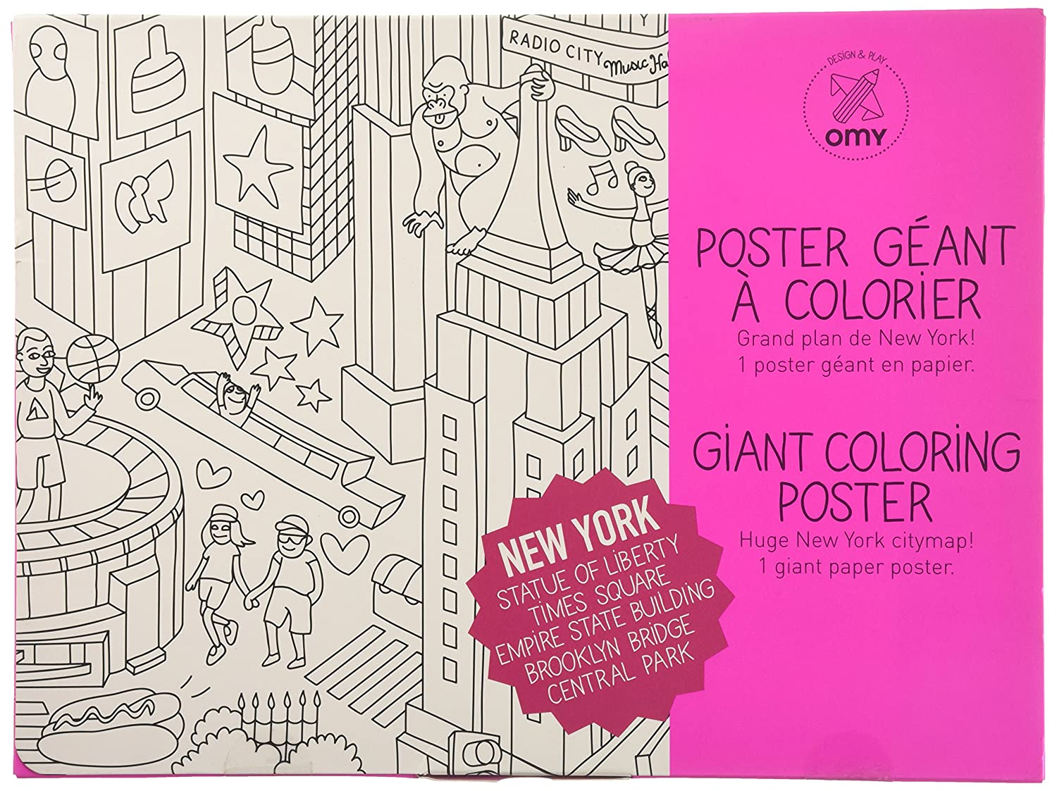 NYC Coloring Poster - NYC Medium Folded