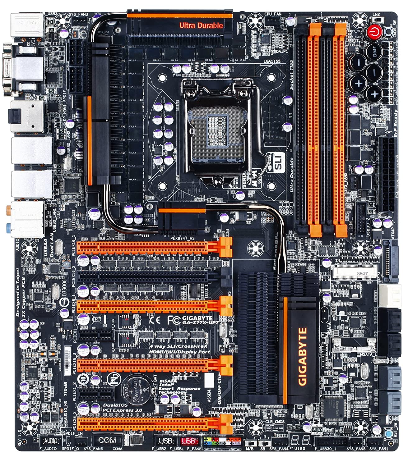 Gigabyte GA-Z77X-UP7 (Rev. 1.0) - Placa Base (DDR3-SDRAM ...