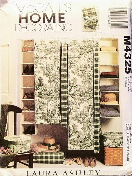 OOP McCalls Home Decor Pattern M4325 Multiple Garment Bag Single Hanging Clothing Shelves