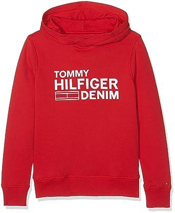 Tommy Hilfiger Boy s Ame Hilfiger Hd Hwk L S Sweatshirt, Red (Rouge Salsa 8afc4c4d7a89