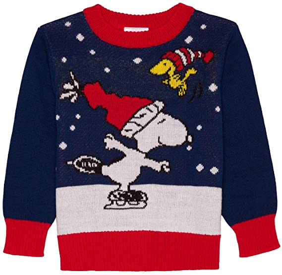 baby and toddler boys peanuts snoopy and woodstock ugly christmas sweater 2t