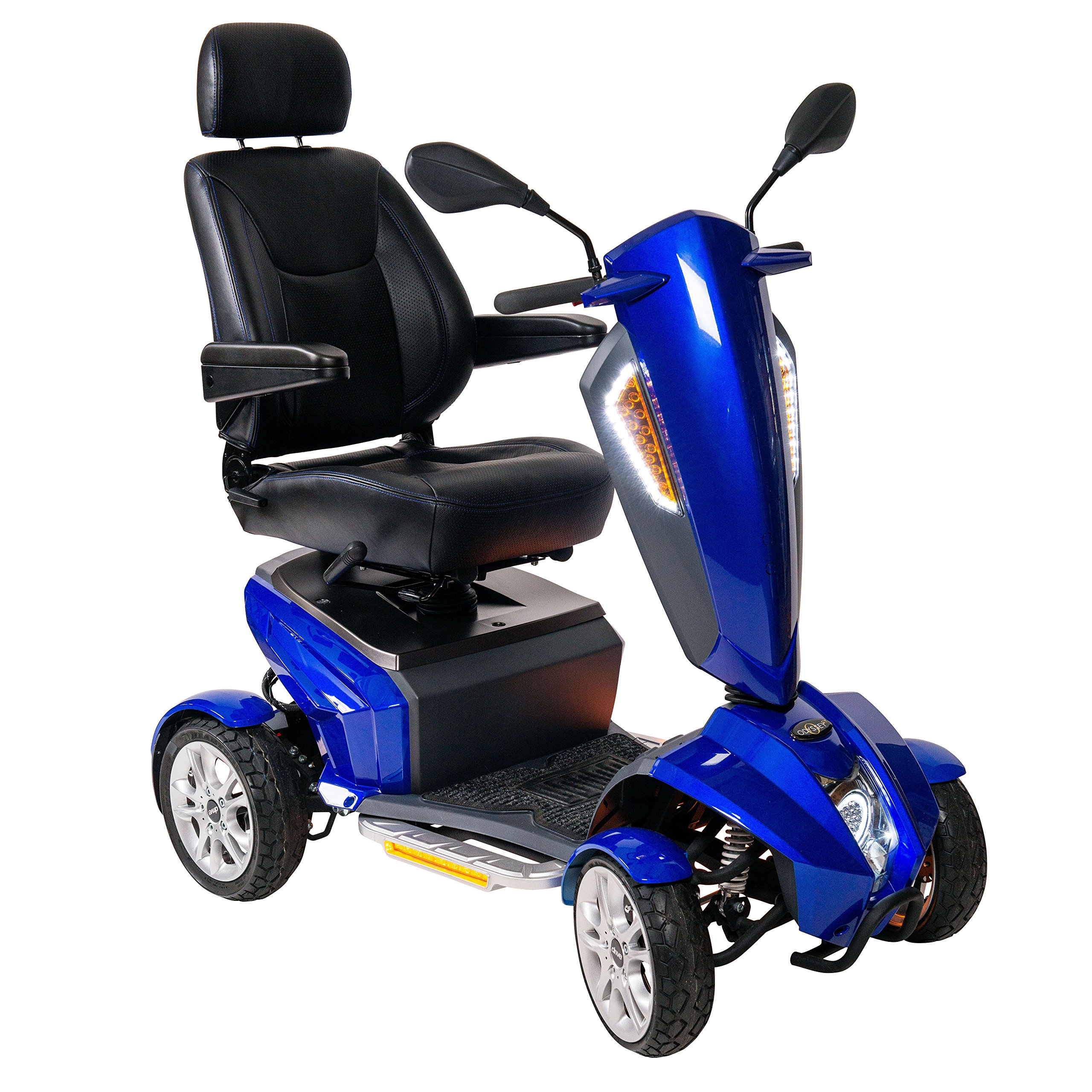 Drive Medical Odyssey GT Executive Power Mobility Scooter Captain's Seat, Blue, 18 Inch