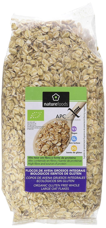 Naturefoods Copos de Avena Gruesos Integrales Ecológicos Sin Gluten - 475 gr: Amazon.es: Alimentación y bebidas