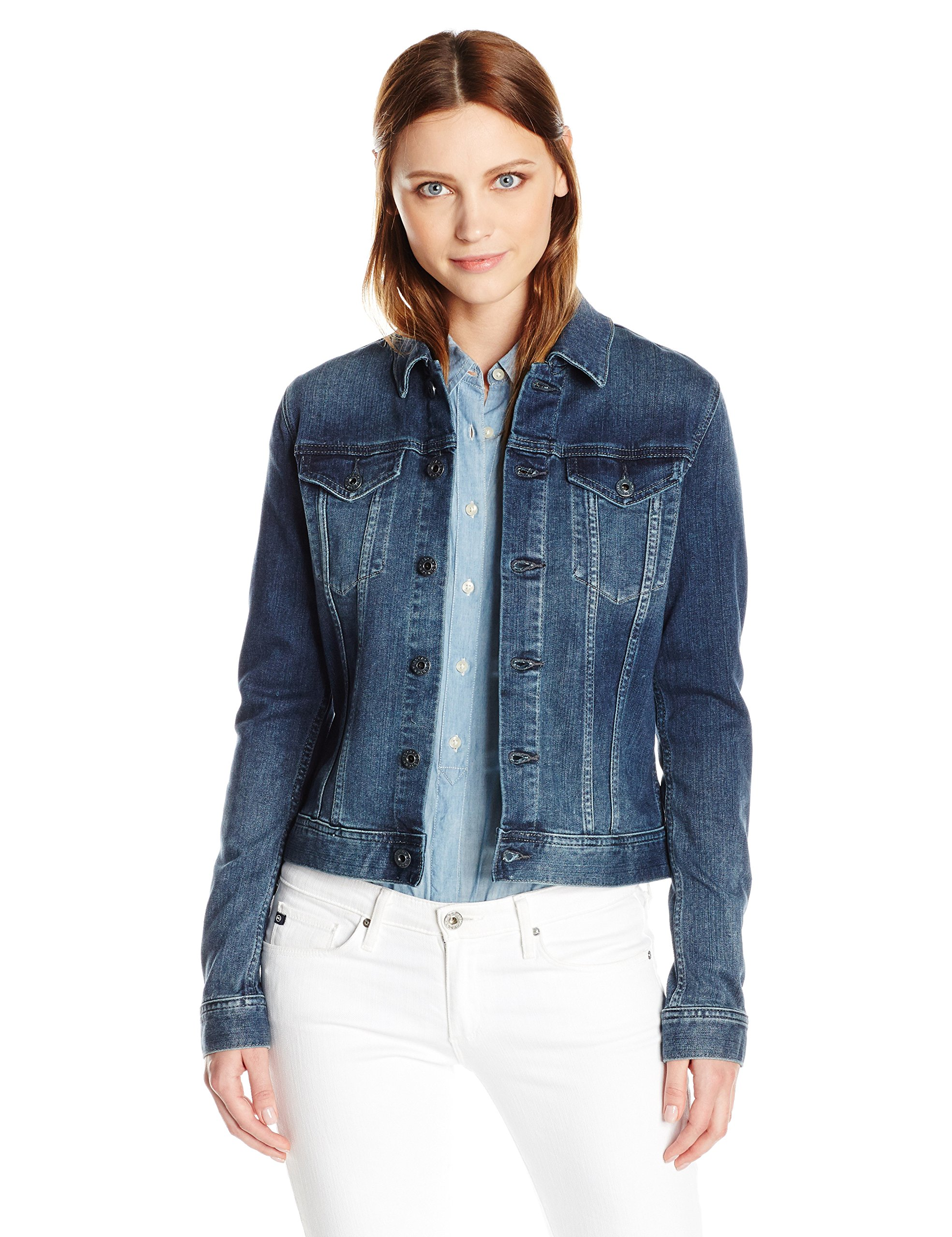 AG Adriano Goldschmied Women's The Robyn Denim Jacket, Blue Cove, Small