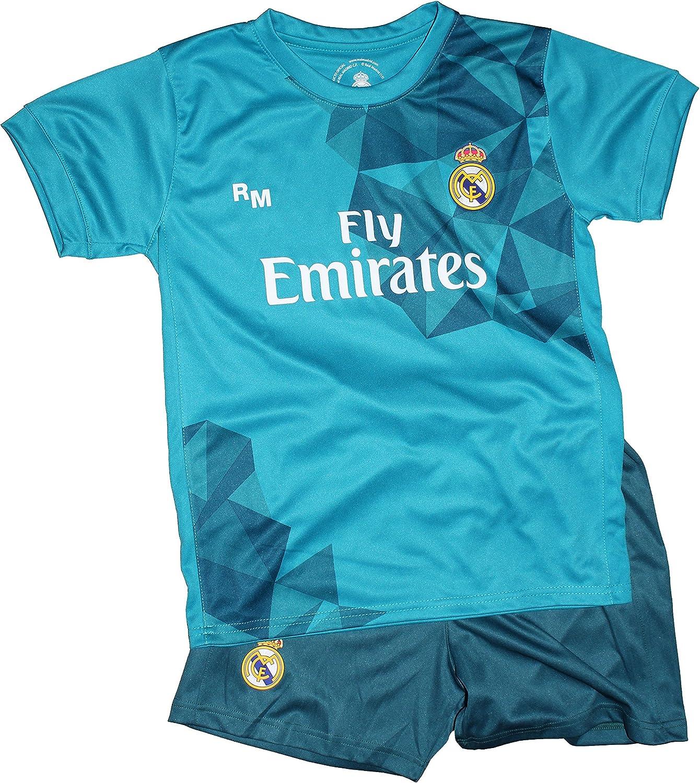Kit Real Madrid Oficial Tercera Equipación (Camiseta y Pantalon) Dorsal Ronaldo 7 (Talla 12 años): Amazon.es: Deportes y aire libre