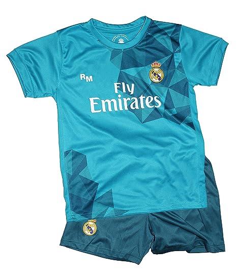 Kit Real Madrid Oficial Tercera Equipación (Camiseta y Pantalon) Dorsal Ronaldo 7 (Talla