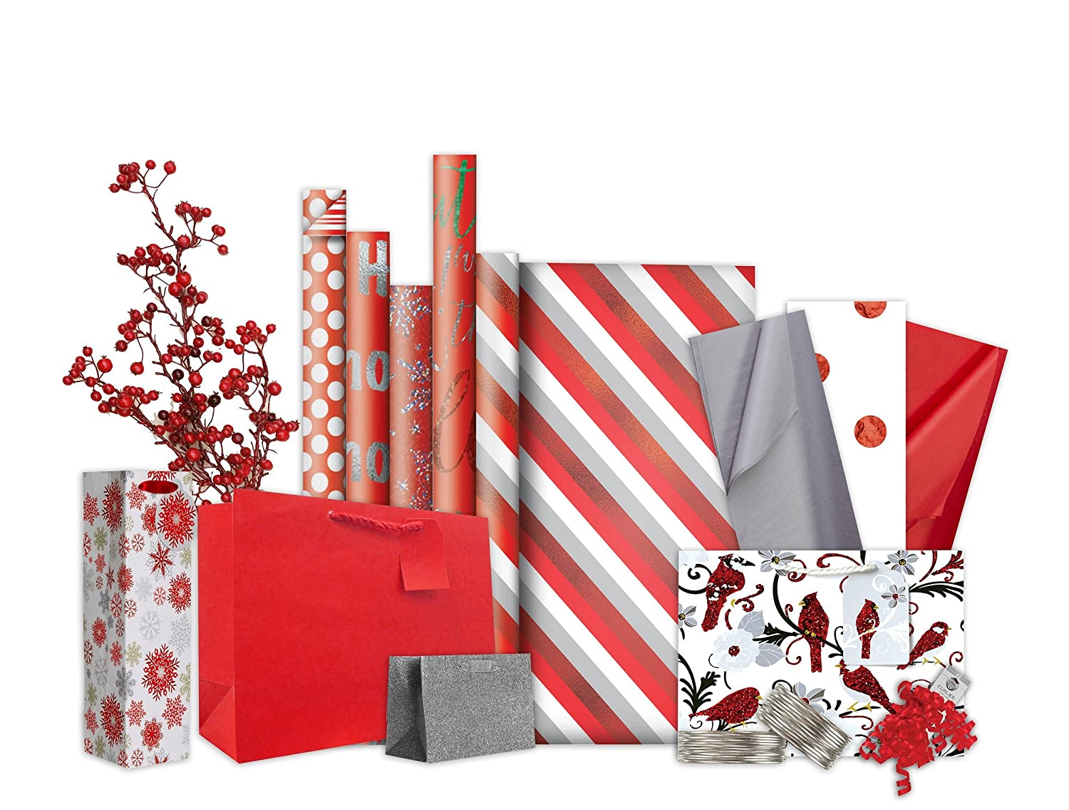 Amazon.com : Jillson Roberts 6 Roll-Count Double-Sided Gift Wrap ...