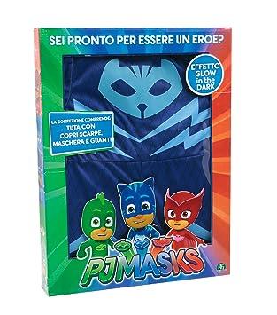 Giochi Preziosi Super pigiamini PJ MASKS disfraz Carnaval gattoboy, talla 4/5 años