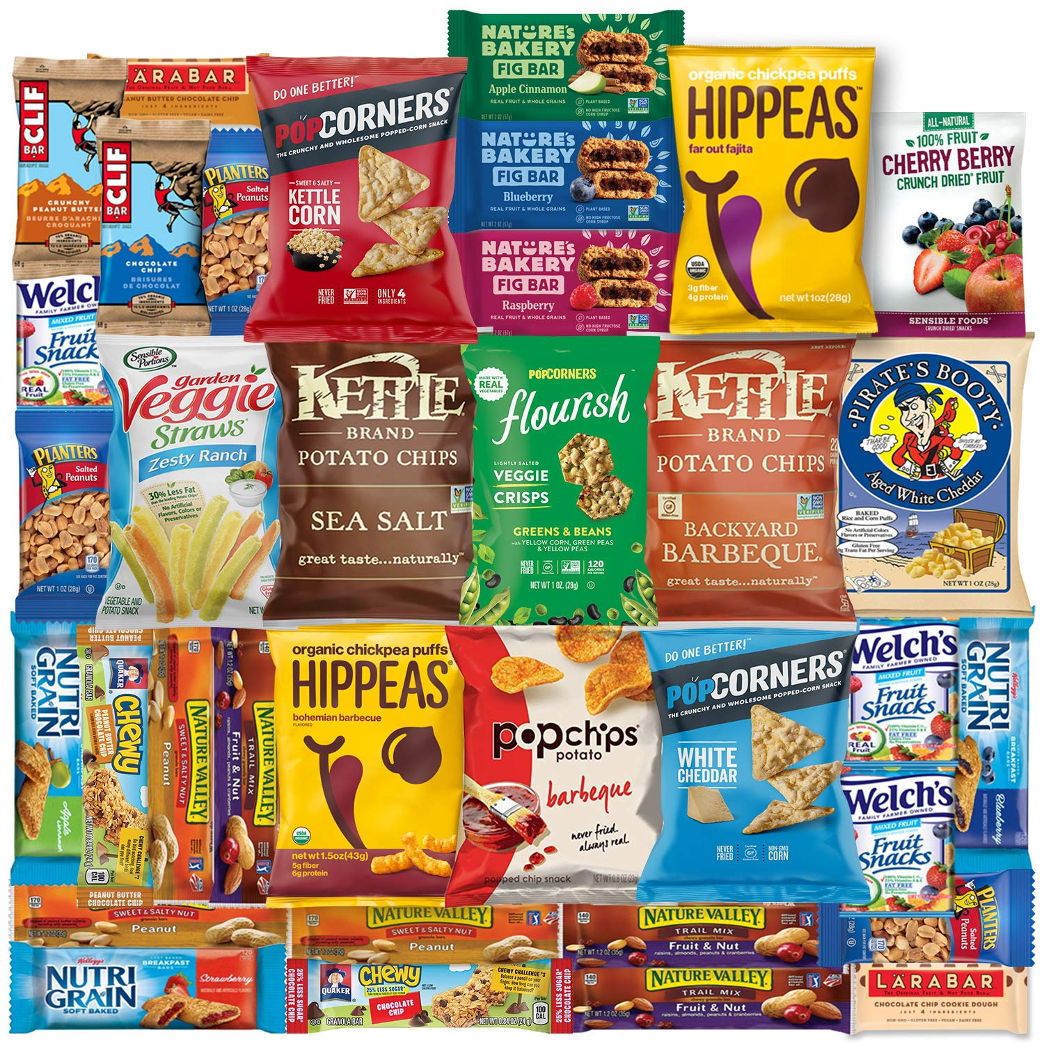 Ultimate Healthy Chips, Bars, Crackers & Snacks Care Package Variety Pack by Variety Fun (35 Count) by Variety Fun