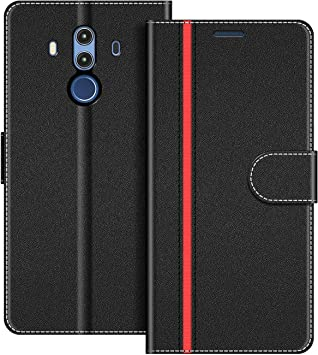 COODIO Funda Huawei Mate 10 Pro con Tapa, Funda Movil Huawei Mate 10 Pro, Funda Libro Huawei Mate 10 Pro Carcasa Magnético Funda para Huawei Mate 10 Pro, Negro/Rojo: Amazon.es: Electrónica