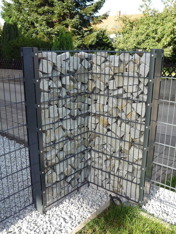 Gartenzaun Komplett Preis für 75m Zaun 1030mm Höhe feuerverzinkt