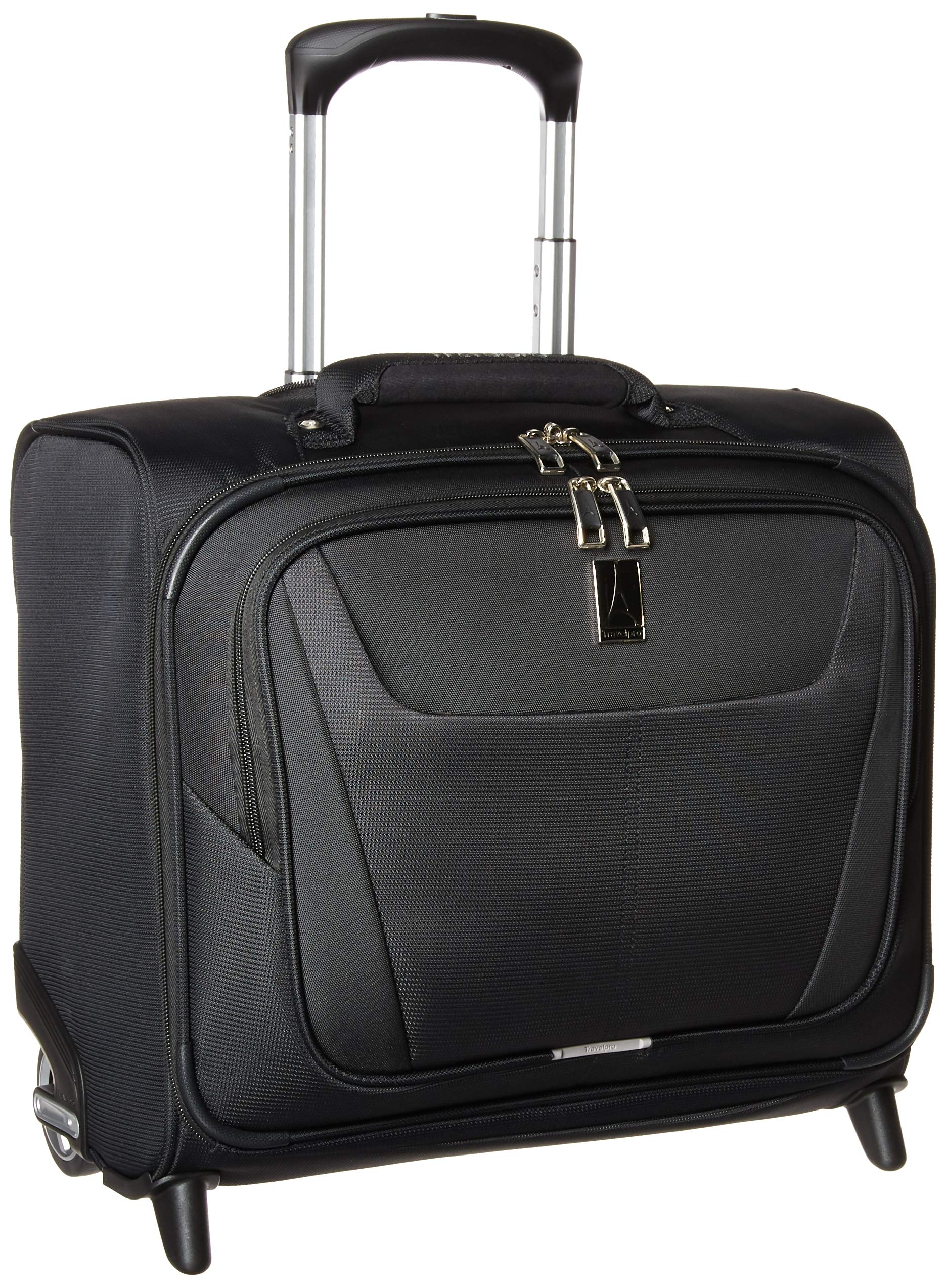 Travelpro Luggage Maxlite 5 16'' Lightweight Carry-on Rolling Tote Suitcase, Black
