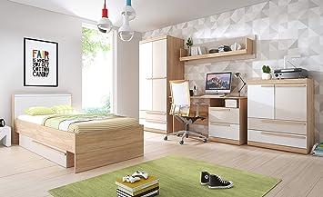 Jugendzimmer Komplett HAPPY Kleiderschrank, Bett, Schreibtisch ...