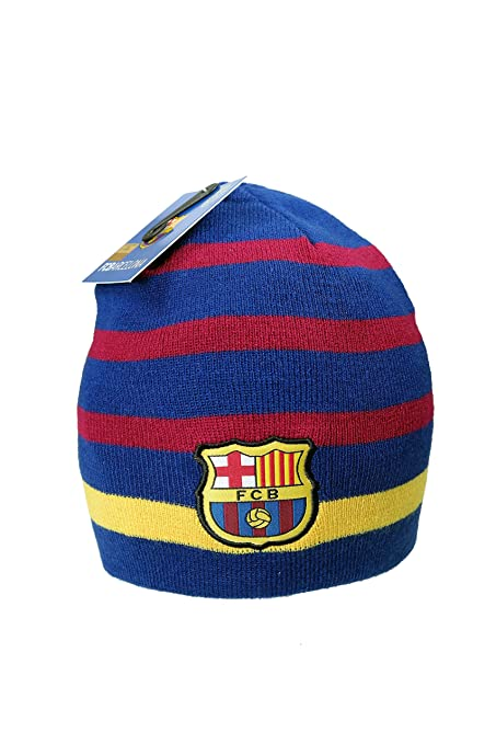2dd0a75817b57 Amazon.com   Official FC Barcelona Beanie Knit Hat Cap Gorro Gorra ...