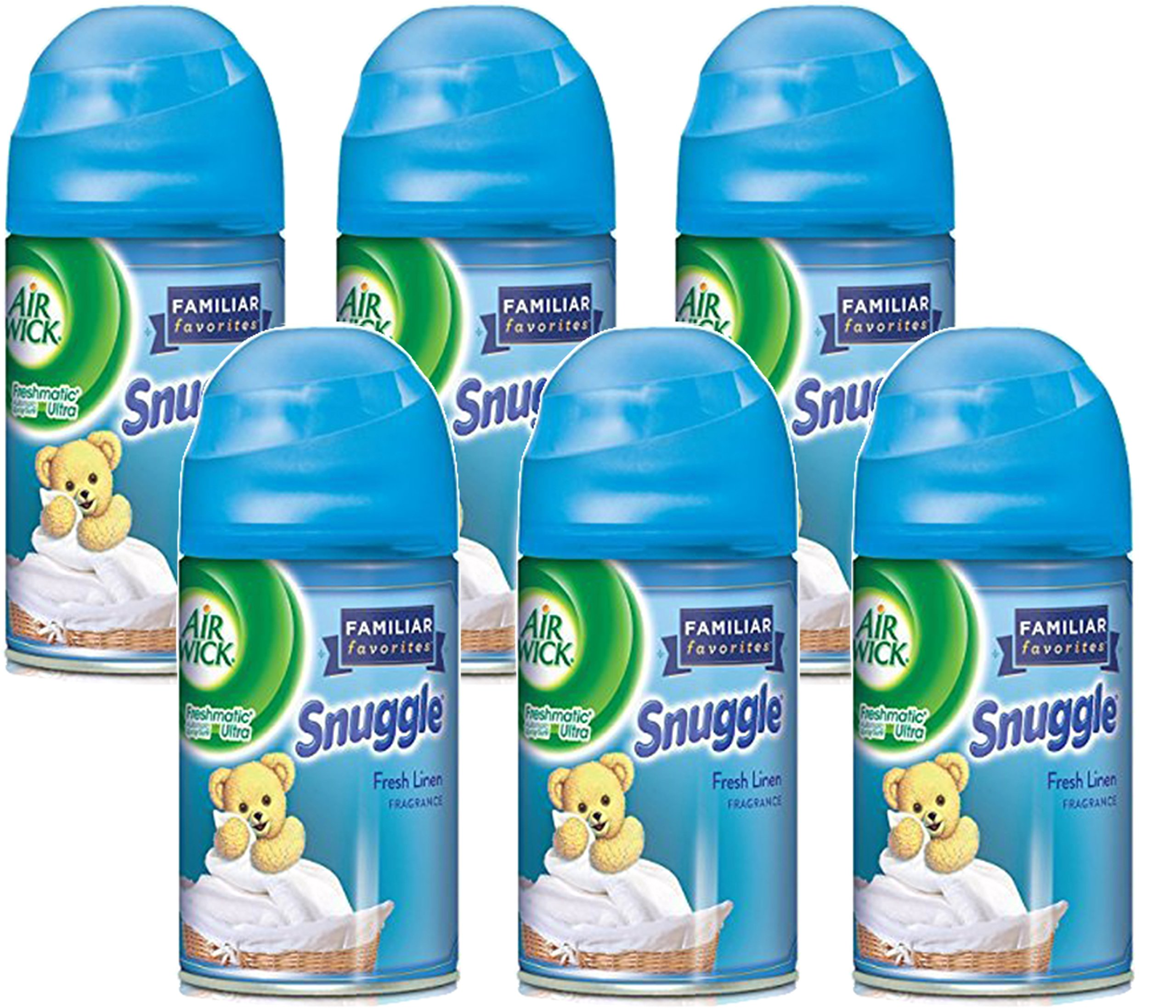 Airwick Freshmatic Refill, Snuggle Fresh Linen, 6.17 Ounce (Pack of 6) by Air Wick