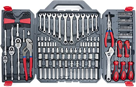 "141PC 1//4/"" 3//8/"" Socket Set Screwdriver Bit Tools Torx Ratchet Driver With Cases"