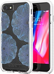 tech21 - Phone Case Compatible with Apple iPhone 8 / iPhone 7 - Evo Check Evoke Edition - Clear/Blue